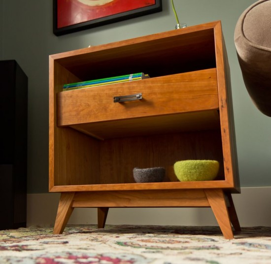 Furniture curtis custom woodwork for Retro side table